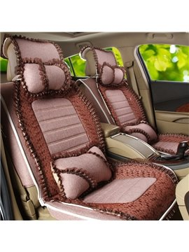 Beautiful and Elegant Soft Material with Girly Lace Universal Fit Car Seat Cover