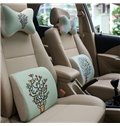 Concise And Styling Linen Material Bird Buckhorn Car Neckrest Pillow
