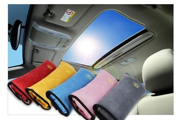 Fashional Pure Colored Design PP Cotton Material Car Seat Belt Cover