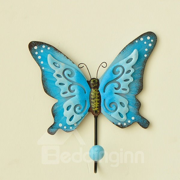 Wonderful Butterfly Design 3-Hook Wall Hook