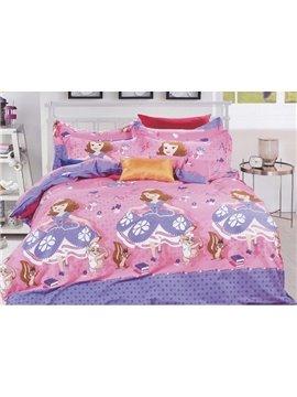 Beautiful Princess Print Kids Cotton 3-Piece Duvet Cover Sets