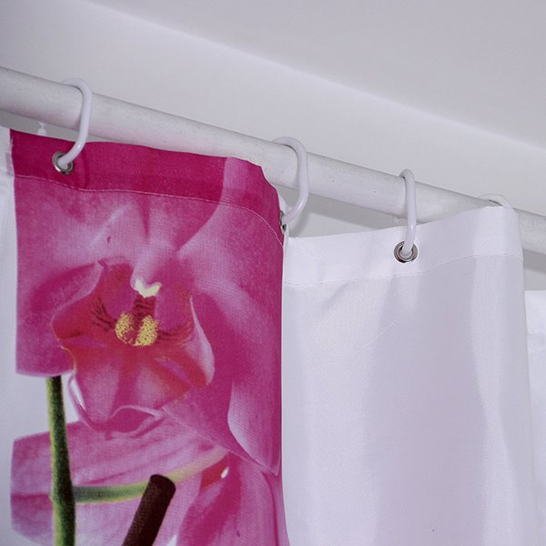 Concise Design Attractive Graceful French Orchid Shower Curtain