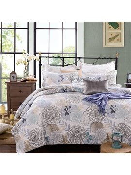 Fresh Concise Dandelion Print Cotton 3-Piece Bed in a Bag