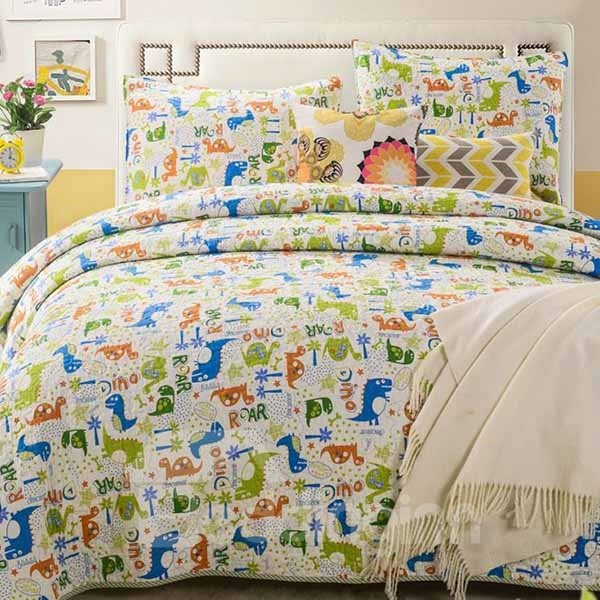 Cartoon Tortoise Print Cotton 3-Piece Bed in a Bag