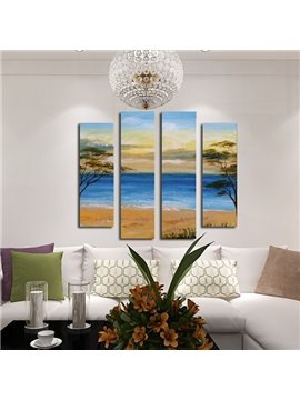 Wonderful Coastal Scenery 4-Panel Framed Wall Art Prints