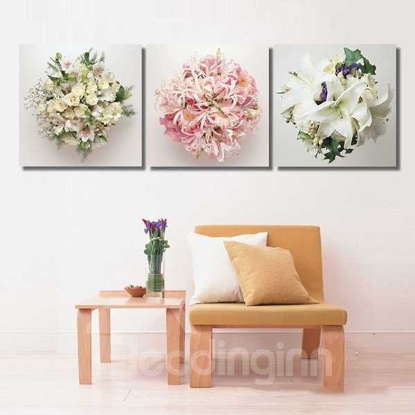 Simple Gorgeous Hydrangea 3-Panel Wall Art Prints