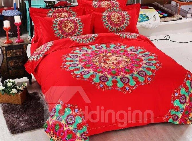 Gorgeous Jacquard Design Skin-care Cotton 4-Piece Duvet Cover Sets