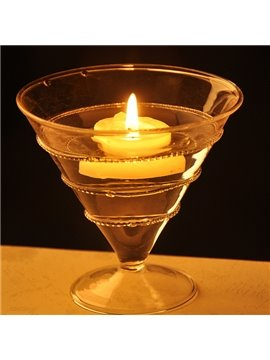 Romantic Glass Cup Design Candle Holder