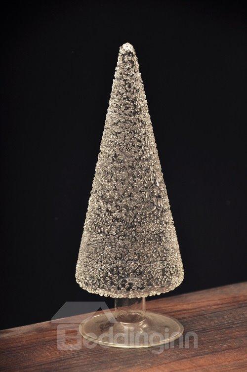 Creative Glass Christmas Tree Design Desktop Decoration