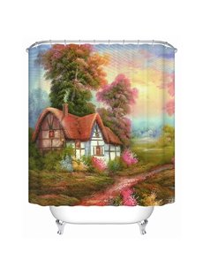 Warm Cozy Country Cottage 3D Shower Curtain