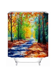 Creative Design Unique Countryside View Oil Painting 3D Shower Curtain