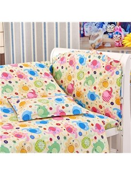 Chubby Cute Elephant Pattern 10-Piece Crib Bedding Sets