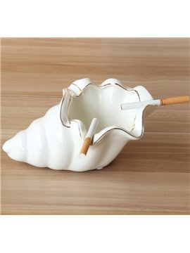 Unique Conch Design Ceramic Ashtray