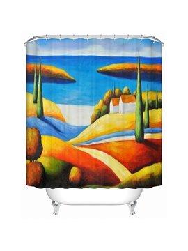Artistic Design Sandy Beach View 3D Shower Curtain
