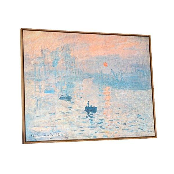 Modern Replica Art Monet Oil Painting Soleil Levant 1-Panel Framed Wall Art Print