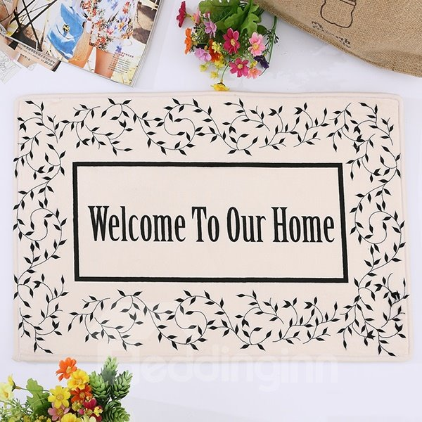 Wonderful Welcome To Our Home Flanel Doormat