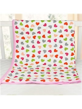 Big Loving Heart Pattern 100% Cotton Baby Crib Sheet