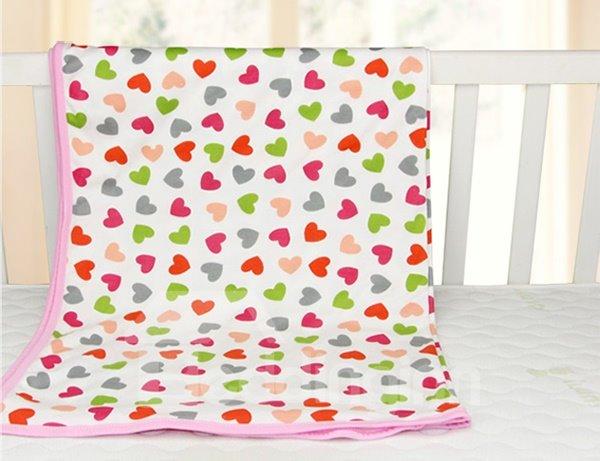 Big Loving Heart Pattern 100% Cotton Baby Crib Sheet