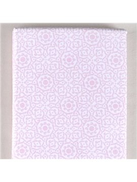 100% Cotton Elegant Solid Pink Baby Crib Sheet