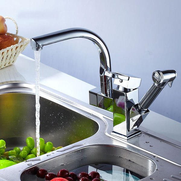 Popular Versatile Double Faucet Heads Kitchen Faucet