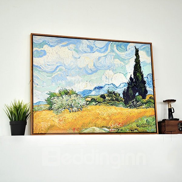 Modern Replica Art Van Gogh Oil Painting 1-Panel Framed Wall Art Print