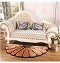 Gorgeous Thick Semi-Circle Petal Design Rug Multi-Color