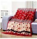 Lovely Polka Dots Stripe Print Polyester Blanket