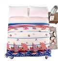 Sailing Boat on Sea Print Bed Blanket