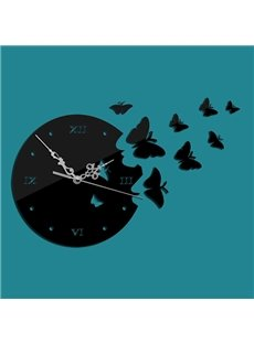 Fantastic 3D Butterfly Design Wall Clock