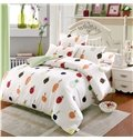 Super Cute Strawberry and Carrot Pattern Kids Cotton 4-Piece Duvet Cover Sets