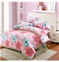 Fresh Lively Flower Pattern Kids 100% Cotton 4-Piece Duvet Cover Sets