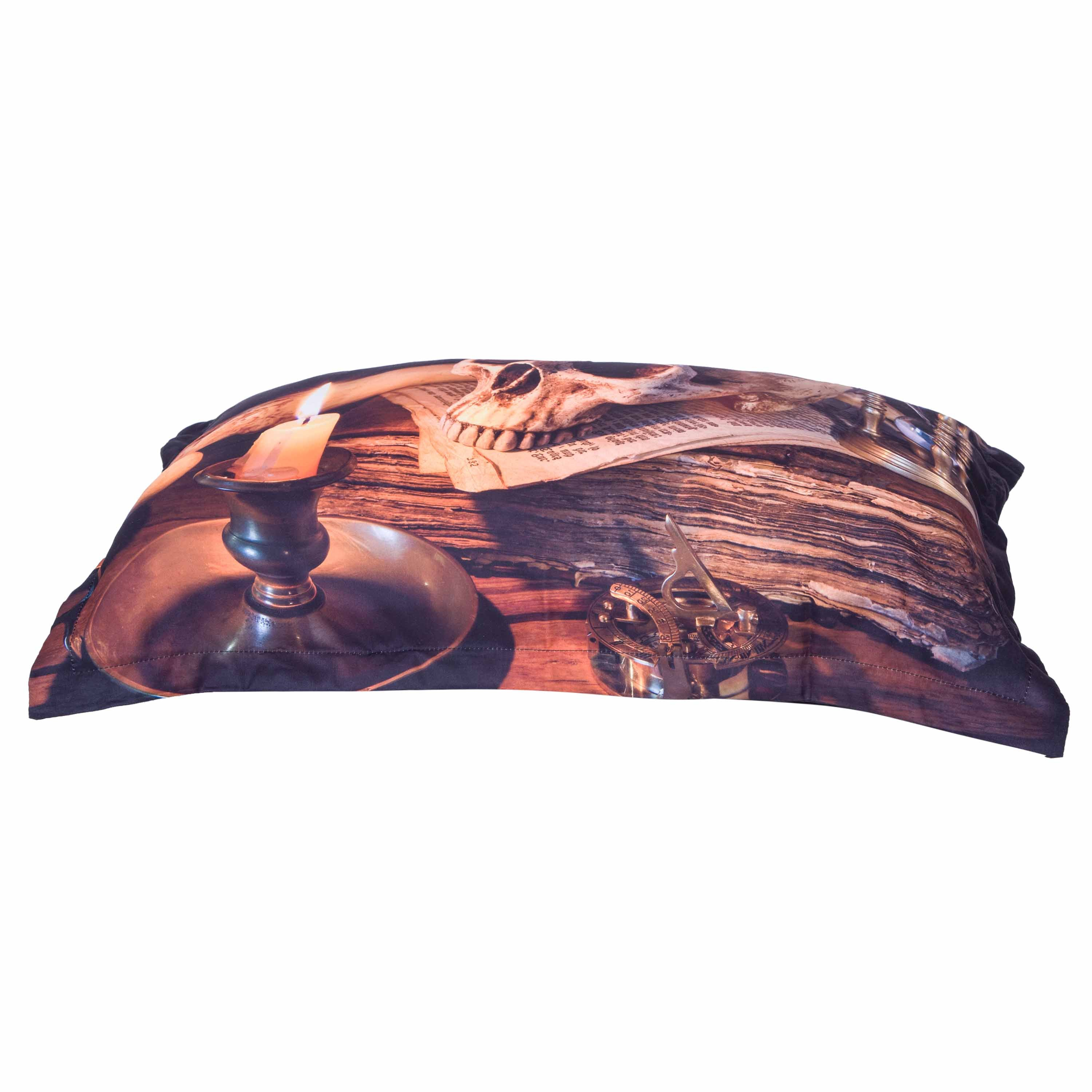 3D Skull and Candle Printed 4-Piece Halloween Bedding Sets/Duvet Covers