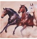 Three Running Horses Printed 4-Piece 3D Bedding Sets/Duvet Covers