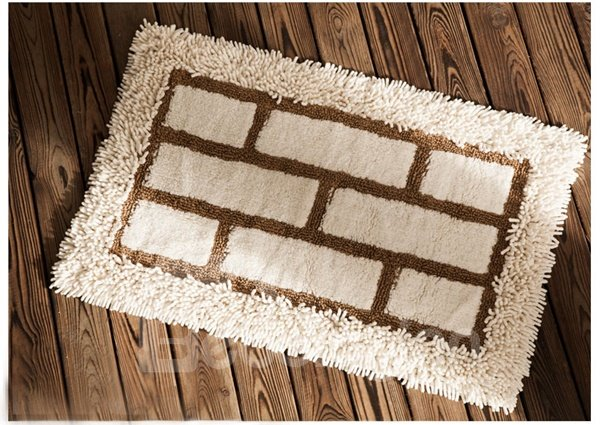 Modern Concise Design 100% Cotton Bath Rug
