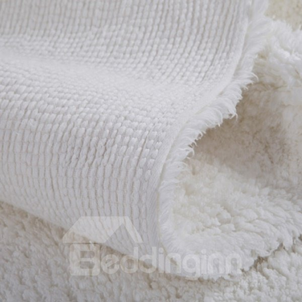 Classical Five Stars Hotel Quality Pure White Thick Bath Rug