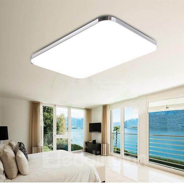 Modern Simple Rectangular Shape Bedroom Living Room LED Flush Mount