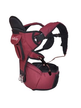 Fully Adjustable Fashionable Dark Red Baby Hip Seat Carrier