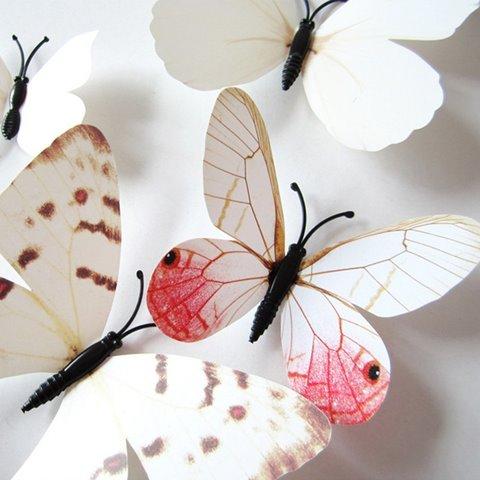Wonderful White Butterflies Removable 3D Wall Sticker
