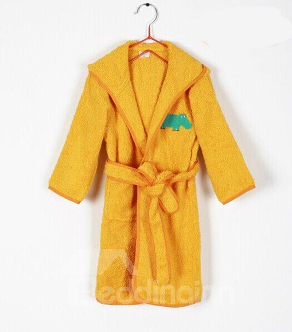 Bright Orange Purified Cotton Kids Bath Robe