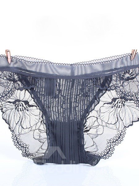 Sexy Seductive Lace Design Solid Color Women