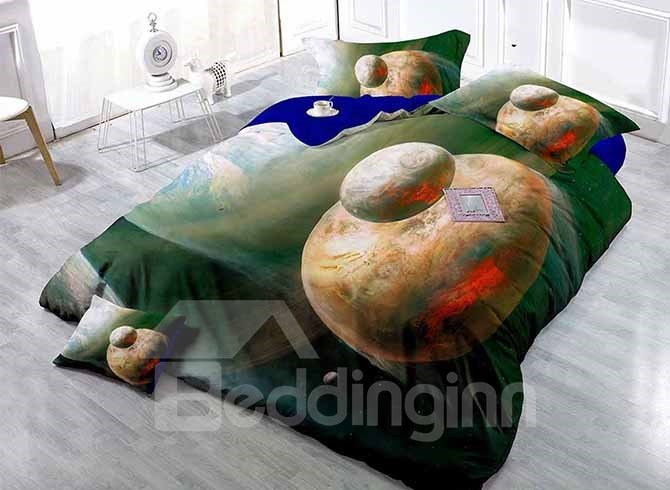 Awesome Planet Luxury Satin Drill 4-Piece Duvet Cover Sets
