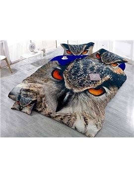 Fierce 3D Eagle Print Satin Drill 4-Piece Duvet Cover Sets