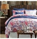 American Pastoral Style 100% Cotton 4-Piece Floral Duvet Cover Sets
