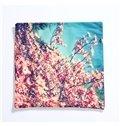 Pastoral Lifelike Flowers Design Plush Throw Pillow