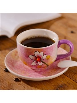 Gorgeous Hand-Painted Daisy Ceramic Coffee Cup