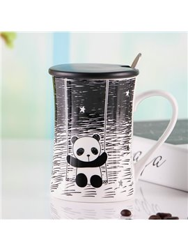 Adorable Panda Pattern Ceramic Coffee Mug