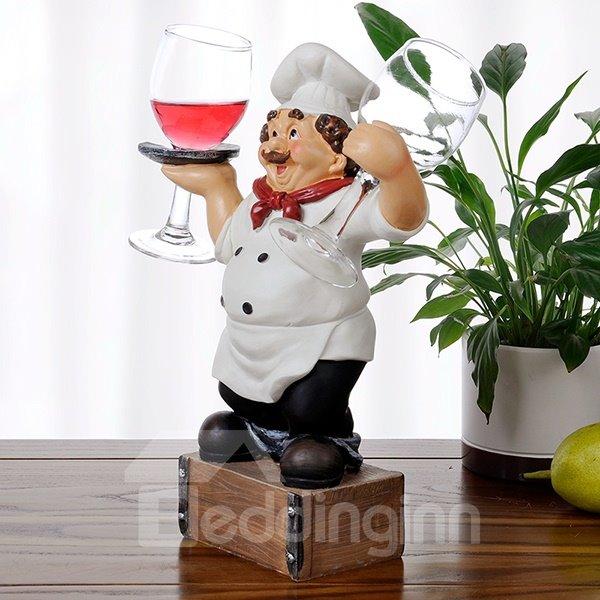 Creative Resin Chef Design Glass Holders