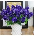Fantastic 5-Branch Hyacinth with Ceramic Vase Artificial Flower Sets