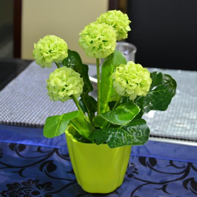 Beautiful Hydrangea in Flower Design Pot Artificial Flower Set