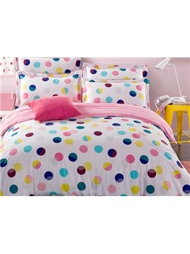 Pure World Polka Dot Pattern Kids Cotton Duvet Cover Sets